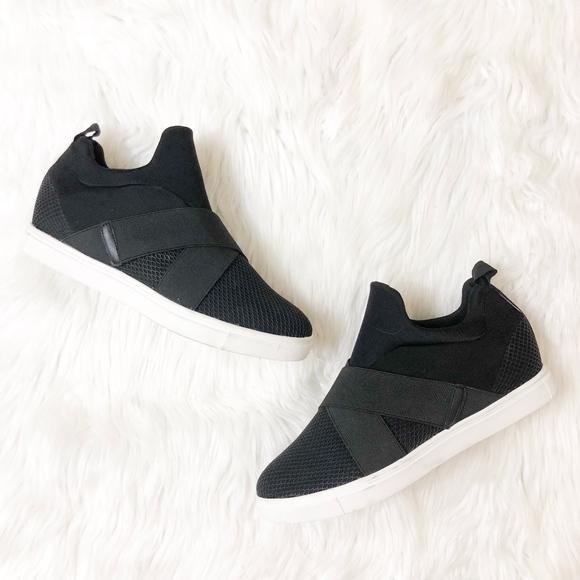 21021c492a4 STEVE MADDEN Laynie Wedge Sneaker in Black